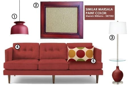 Incorporating Marsala in Your Home - 2015 Color of the Year: Marsala
