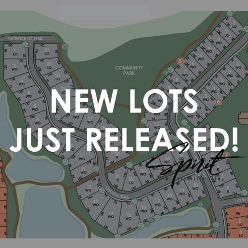 new home lots lakeville - spirit of brandtjen farm - robert thomas homes