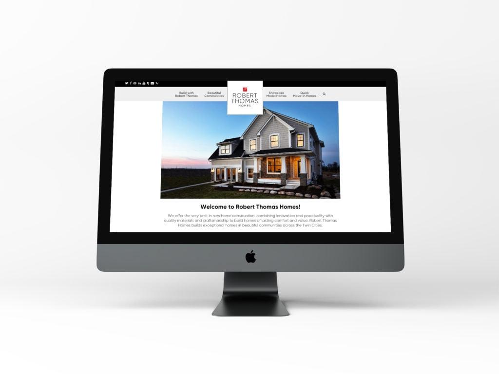 New website on desktop computer